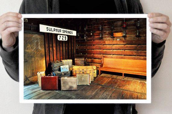 Vintage Florida Train Station Photograph Sulphur by NatureCity, $25.00