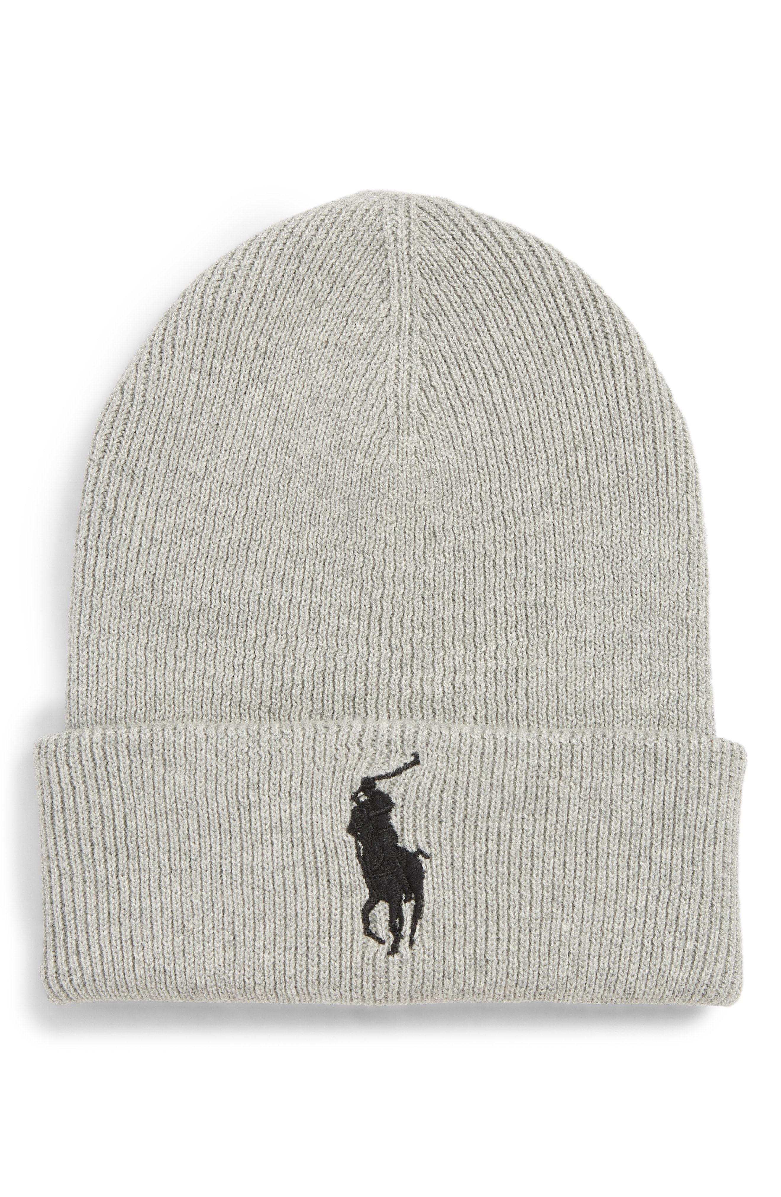 35791a3f8ede0 POLO RALPH LAUREN BIG PONY CUFFED BEANIE - RED.  poloralphlauren ...