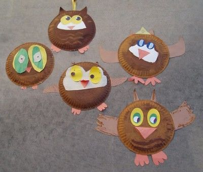 Last fall one of my children was yearning to do some fall crafts to decorate our home. We found pictures of several crafts made from paper plates and ... & Fall Paper Plate Crafts | Paper plate crafts Craft and Owl