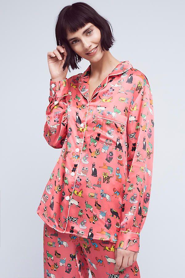 154e57aa59 Karen Mabon Cat s Pyjamas Silk Sleep Top