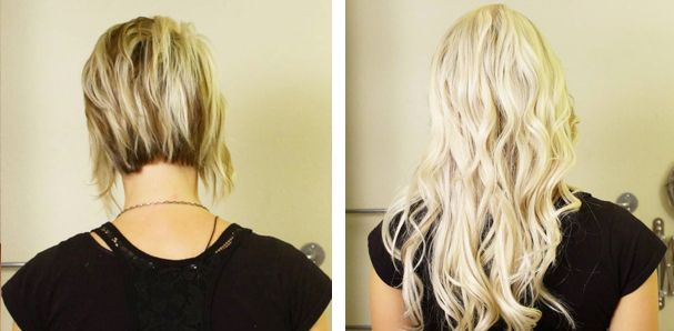 Hair Extensions Before And After Hair Extensions For Short Hair Short Thin Hair 16 Inch Hair Extensions