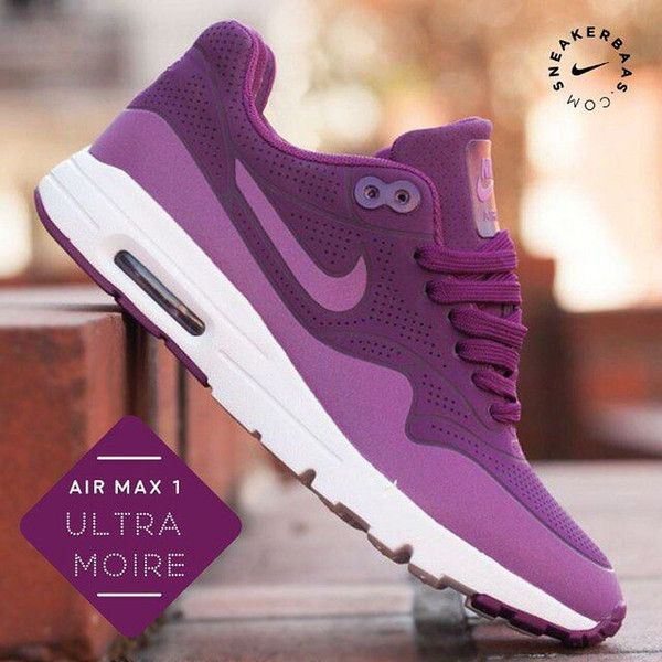 newest 1ec9a 3a008 Nike Air Max 1 Ultra Moire Burgundy (MULBERRY PURPLE DUSK WHITE )Trainers  Shoes UK 3 EU 36  22.5 CM