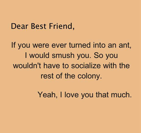 Quotes Dear Friend Tagalog: Dear Best Friend. Daily Odd Compliment. Weird Best Friends