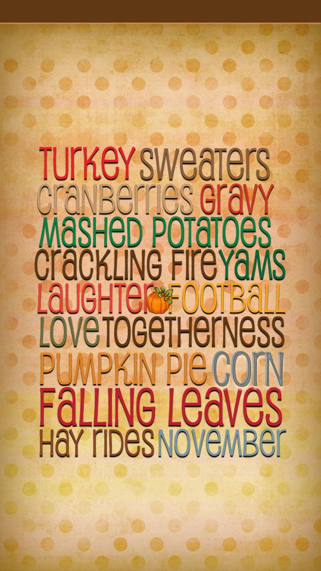 iPhone Wallpaper Thanksgiving HS tjn Thanksgiving