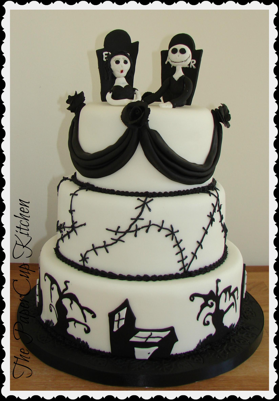 Jack Skellington and Sally Halloween Wedding Cake