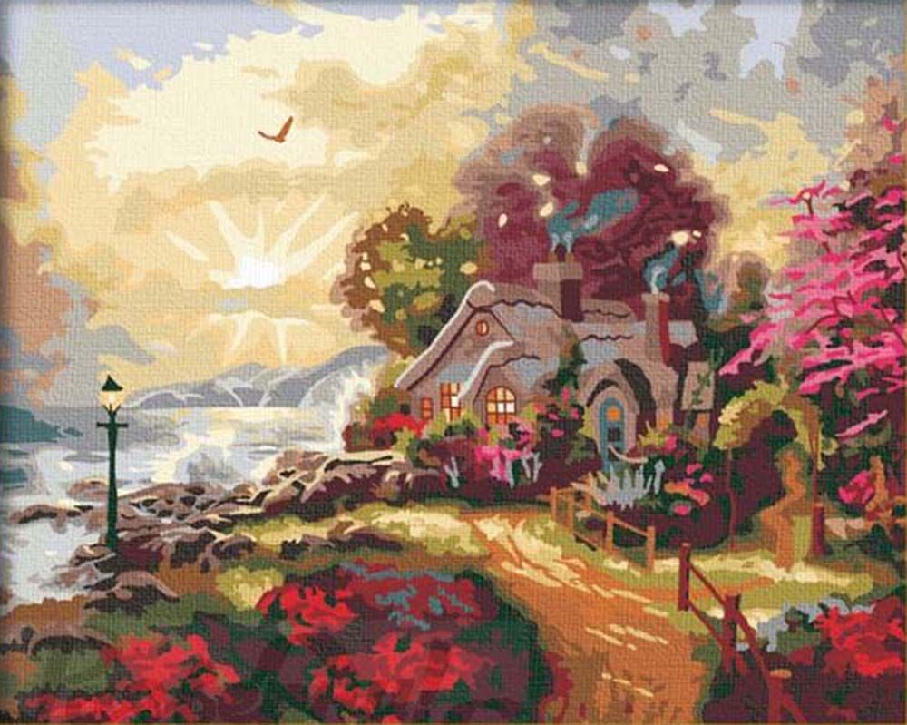 Картина по номерам «Рассвет нового дня»   Краска, Картины ...
