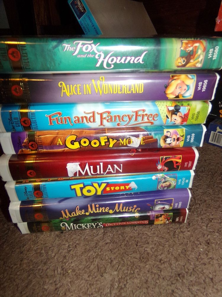 Disney's Lot of 8 Gold Classic Collection VHS. | Ventus ...