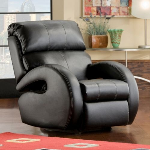 Southern Motion Black Bonded Leather Power Recliner