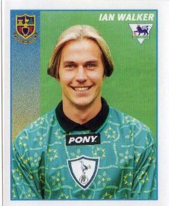 TOTTENHAM HOTSPUR - Ian Walker #465 MERLIN Premier League 97 Football Sticker...that hair Ian!
