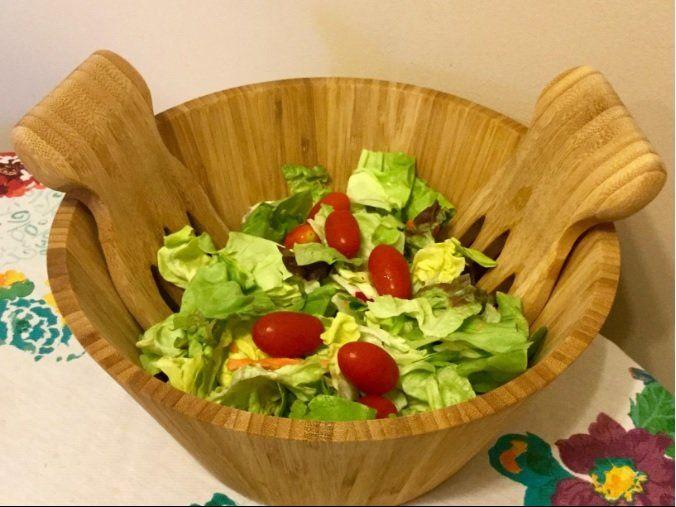 3 Piece Salad Bowl with Salad Hand Set