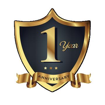 1周年記念バッジロゴアイコン バッジのクリップアート ロゴアイコン バッジアイコン画像素材の無料ダウンロードのためのpngとベクトル Badge Icon Badge Logo Anniversary Logo