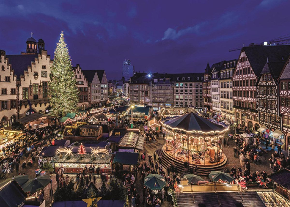 Mak Frankfurt Frankfurt Christmas Market, Germany, 1000 Pieces, Jumbo | Puzzle Warehouse | Christmas Market, City Architecture, Christmas Jigsaw Puzzles