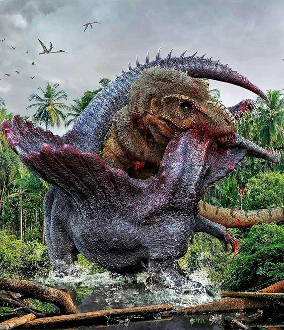 spinosaurus vs giganotosaurus carolinii dino art pinterest