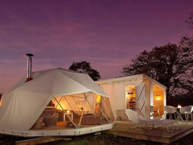 The Big Six Dome Hotels Canopy And Stars Luxury Camping Tent Glamping