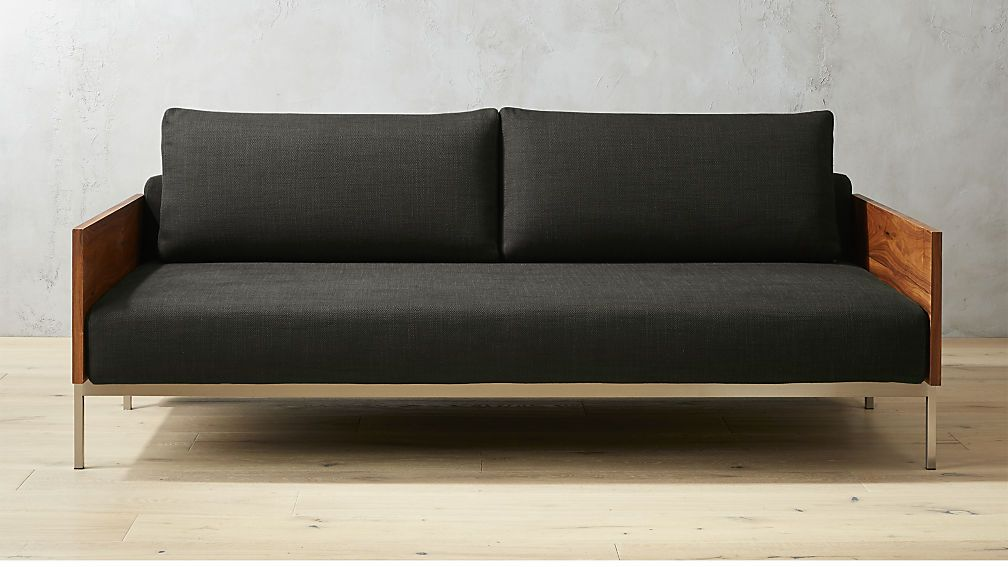 Exton Espresso Sleeper Sofa Cb2 Affordable Furniture Loft