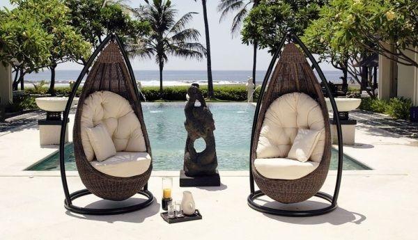 Exklusive Terrassenmöbel exklusive gartenmöbel pool rattanstuhl design garten
