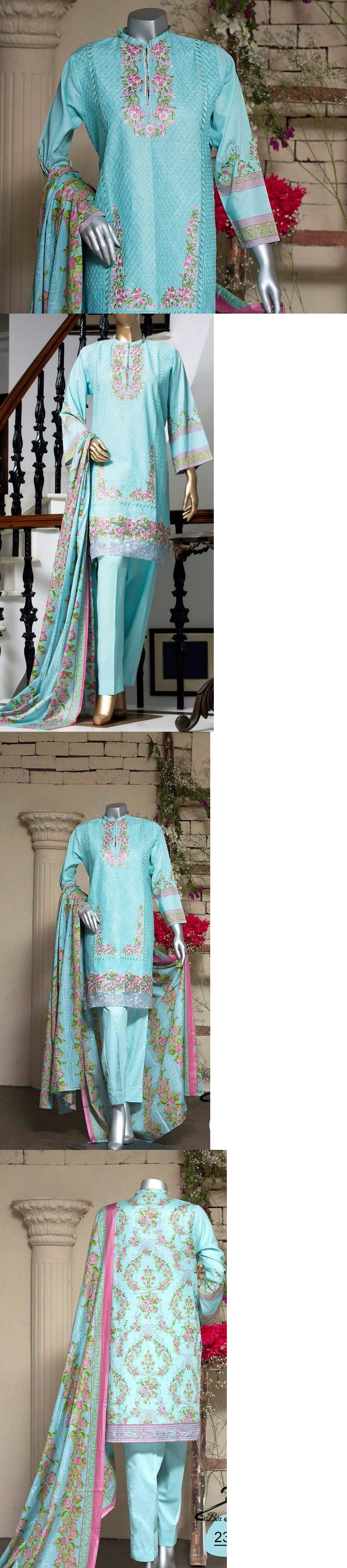 Pink dress shirt blue suit  Salwar Kameez  Indian Pakistani Blue Embroidered Elegant