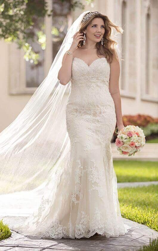 c37e846e026 6220+ Fit-and-Flare Strapless Plus Size Wedding Dress by Stella York