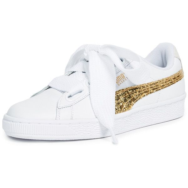PUMA Basket Heart Glitter Sneakers ( 91) ❤ liked on Polyvore featuring shoes 926c031e7
