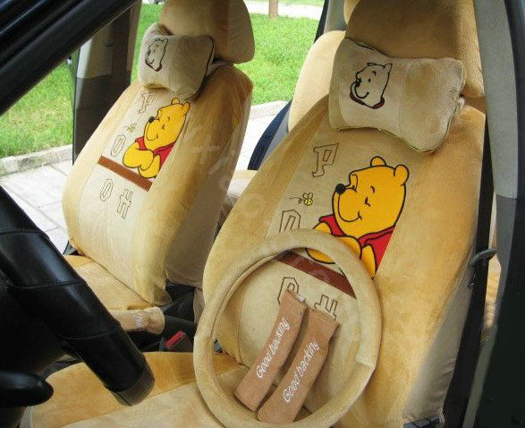 19126 Winnie The Pooh Car Seat Covers Plush Fabrics