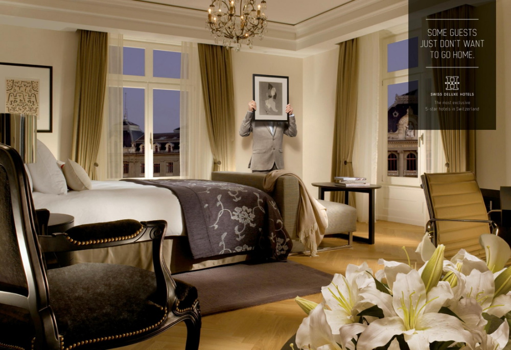 Swiss Deluxe Hotels Print Advert By Ruf Lanz Hidden Guests 4 Ads Of The World In 2020 Hotel Design Modern Interior Design