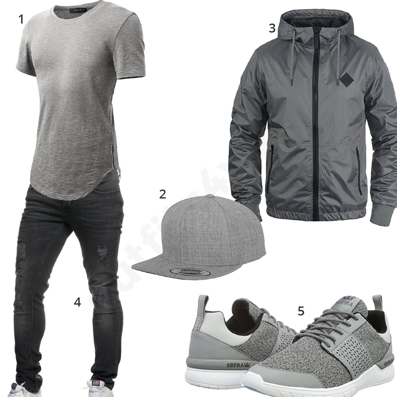 graues herrne outfit mit blend jacke m0323 outfit f r. Black Bedroom Furniture Sets. Home Design Ideas