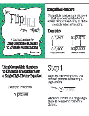 Flip for Math: Using Compatible Numbers to Estimate Division | Math ...