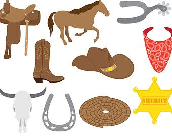 cowboy digital clipart wild west sheriff cowboy clip