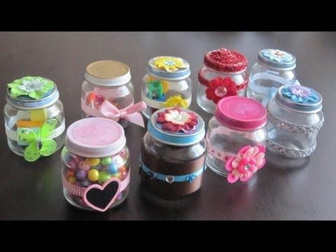 How To Make Decorative Gift Containers Out Of Recycled Baby Food Jars Recycling Ep Diy Blog Baby Food Jar Crafts Baby Food Jars Jar Crafts