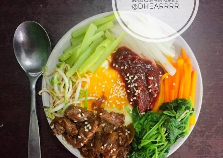 Resep Bibimbap Nasi Campur Korea Oleh Dhea Rainesty Resep Resep Makanan Resep Resep Masakan Korea