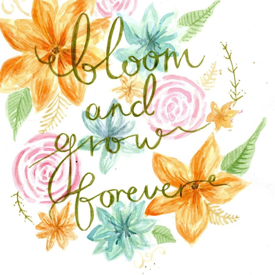 Bloom And Grow Forever Print Edelweiss Nursery Idea