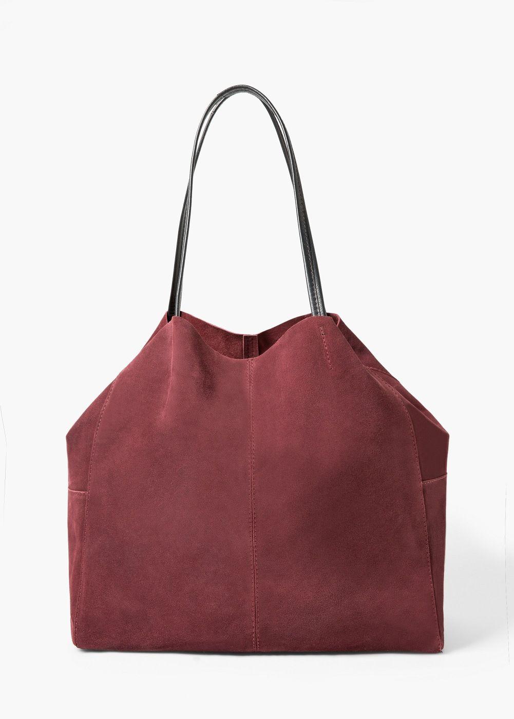 Suede Shopper Bag Women Mango United Kingdom Shopper Tasche Shopper Taschen