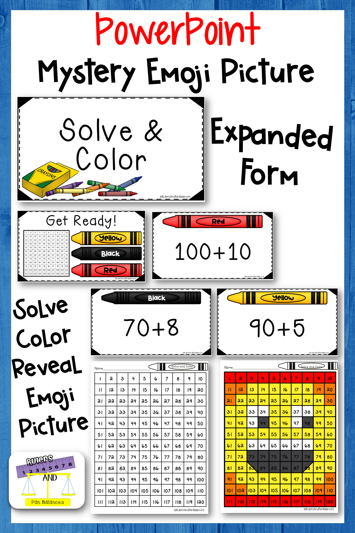 Numbers to 8 - Solve and Color - Expanded Form ...