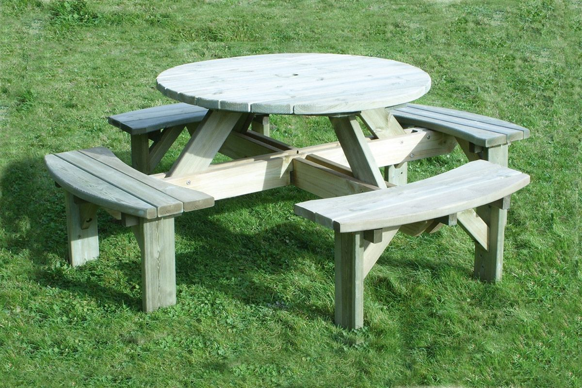 Merveilleux Lifetime Round Picnic Table 44