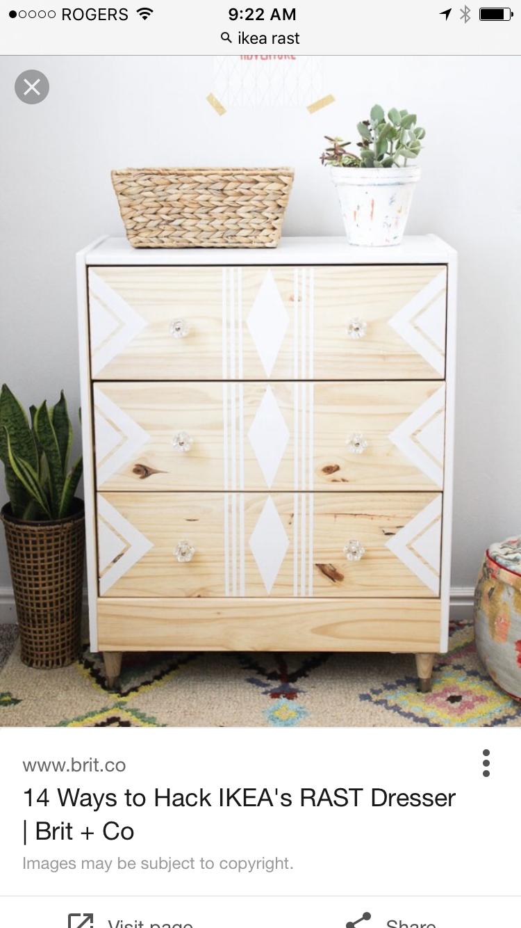 Diy Makeover Of Ikea Rast Diy Furniture Furniture Makeover