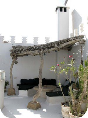 This looks like a Moroccan roof terrace and I love this rustic look.