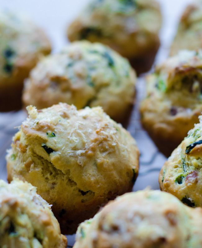 Spinach Bacon Muffins