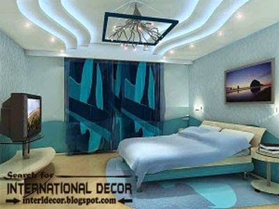 false ceiling designs of plasterboard with lighting - Bedroom False Ceiling Designs