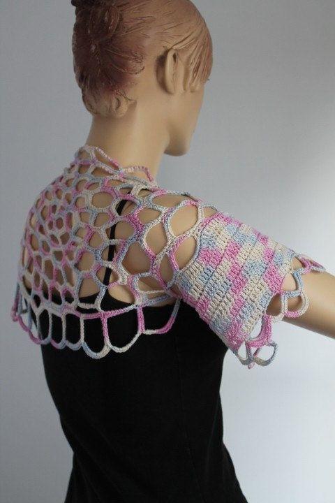 Lujo Crochet Patrón Encogimiento De Hombros Algodón Regalo - Ideas ...