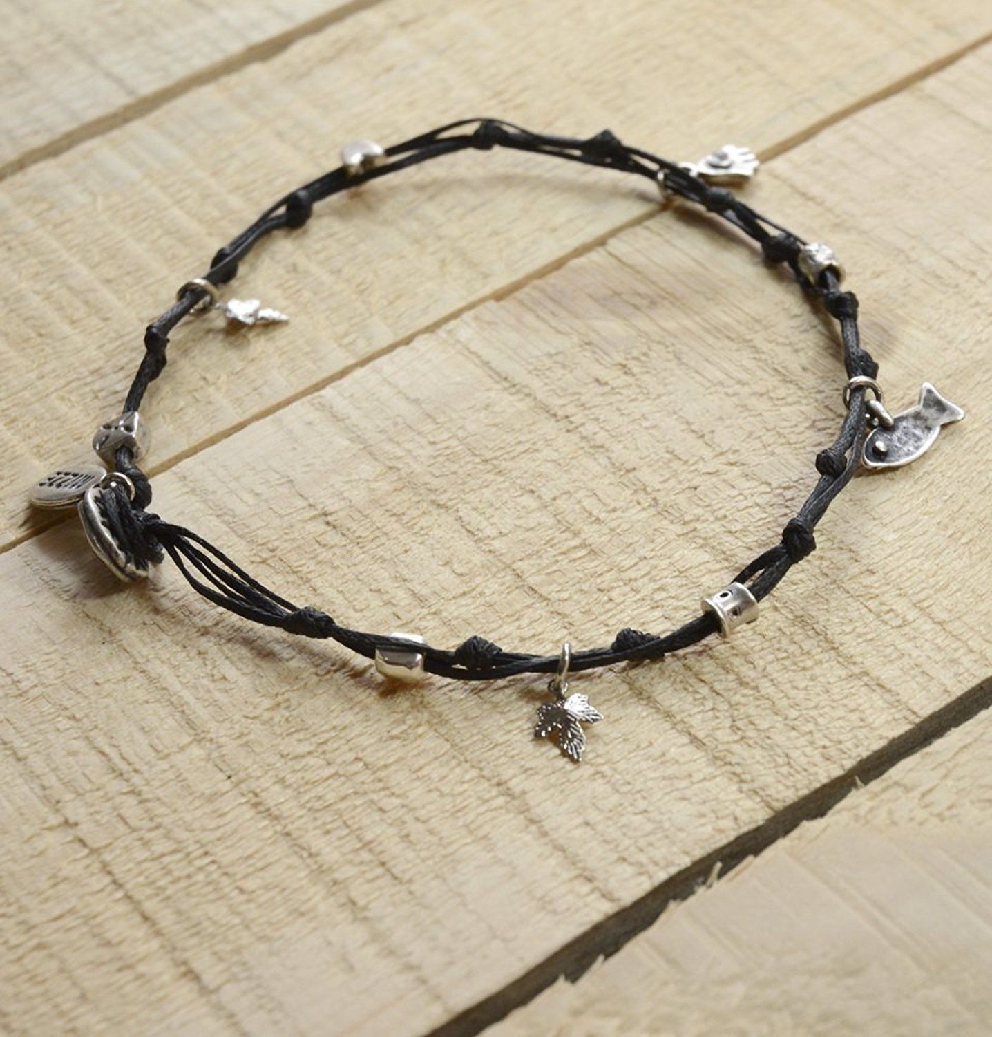 oval co anklets in bow station tone anklet by strand jewelry the and double black gold bead two collections inch