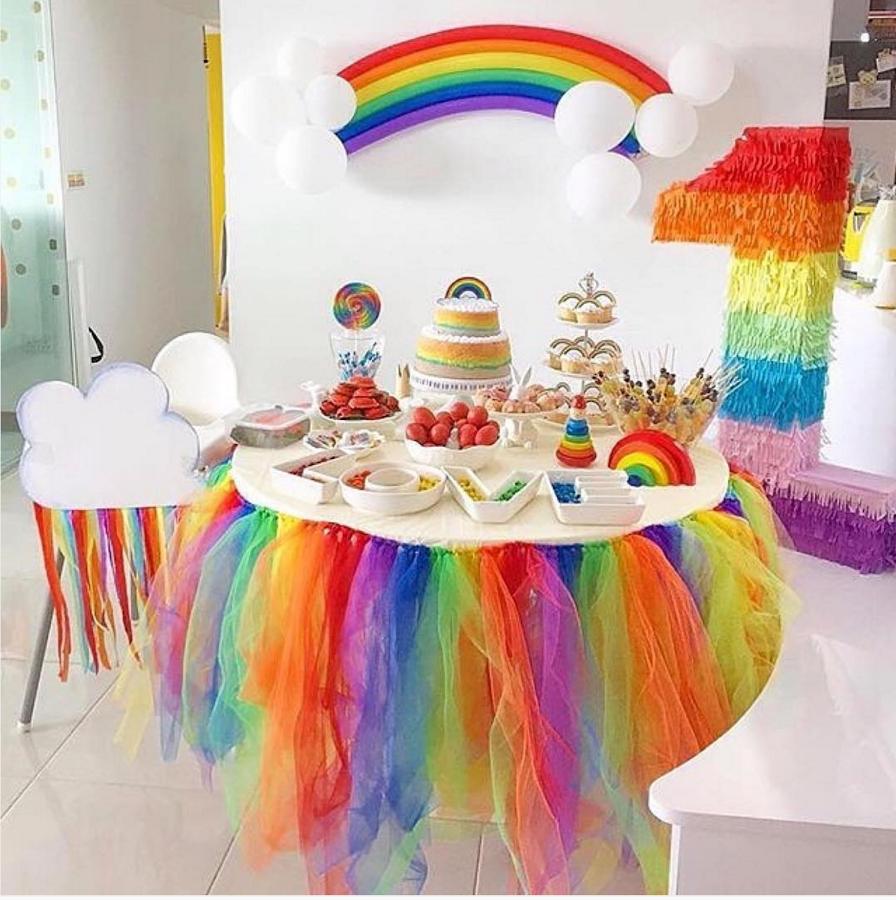 Ideas para fiestas tem ticas de arcoiris ideas para - Fiesta cumpleanos 8 anos ...