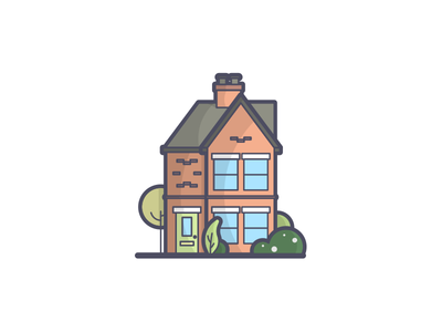 Home Sweet Home In 2020 Flat Design Illustration Home Icon