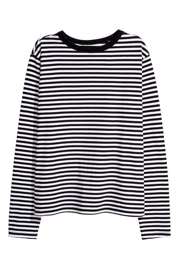 79a5838cf Striped Jersey Top | Red/white striped | Women | H&M US | cløthīng ...