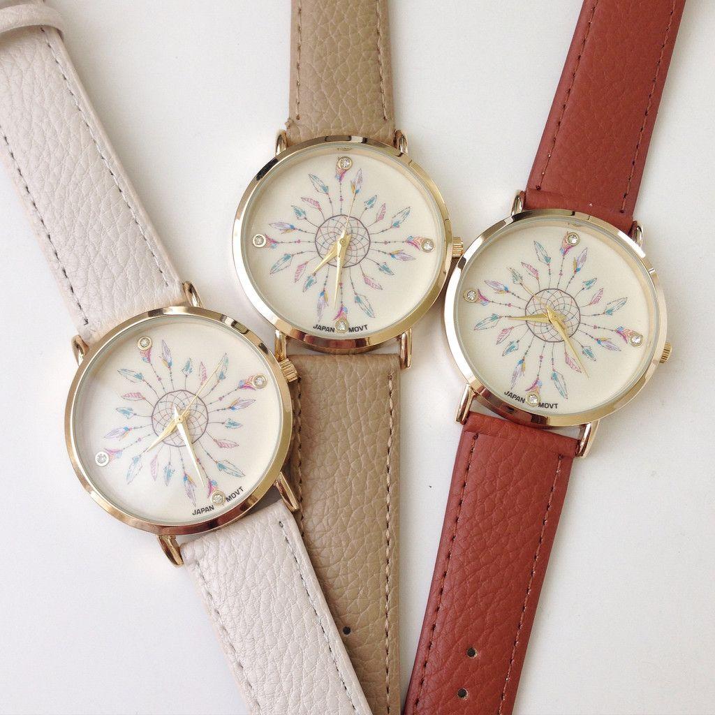 Dreamcatcher November Leather Watch
