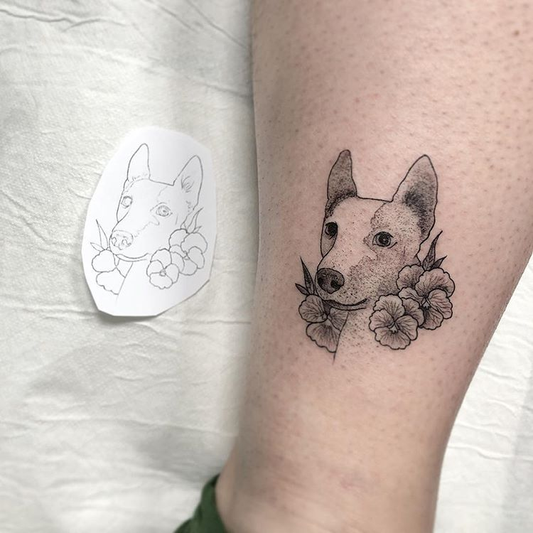 Mini Version Del Perrete De Anasoulsister Muchas Gracias De Nuevo Hecho En La Mano Zurda Tattoo Tatuaje Lin Dog Tattoos Dog Tattoo Line Work Tattoo