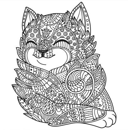 Adult colouring pages on the Zen Color app. It\'s a free iOS app ...
