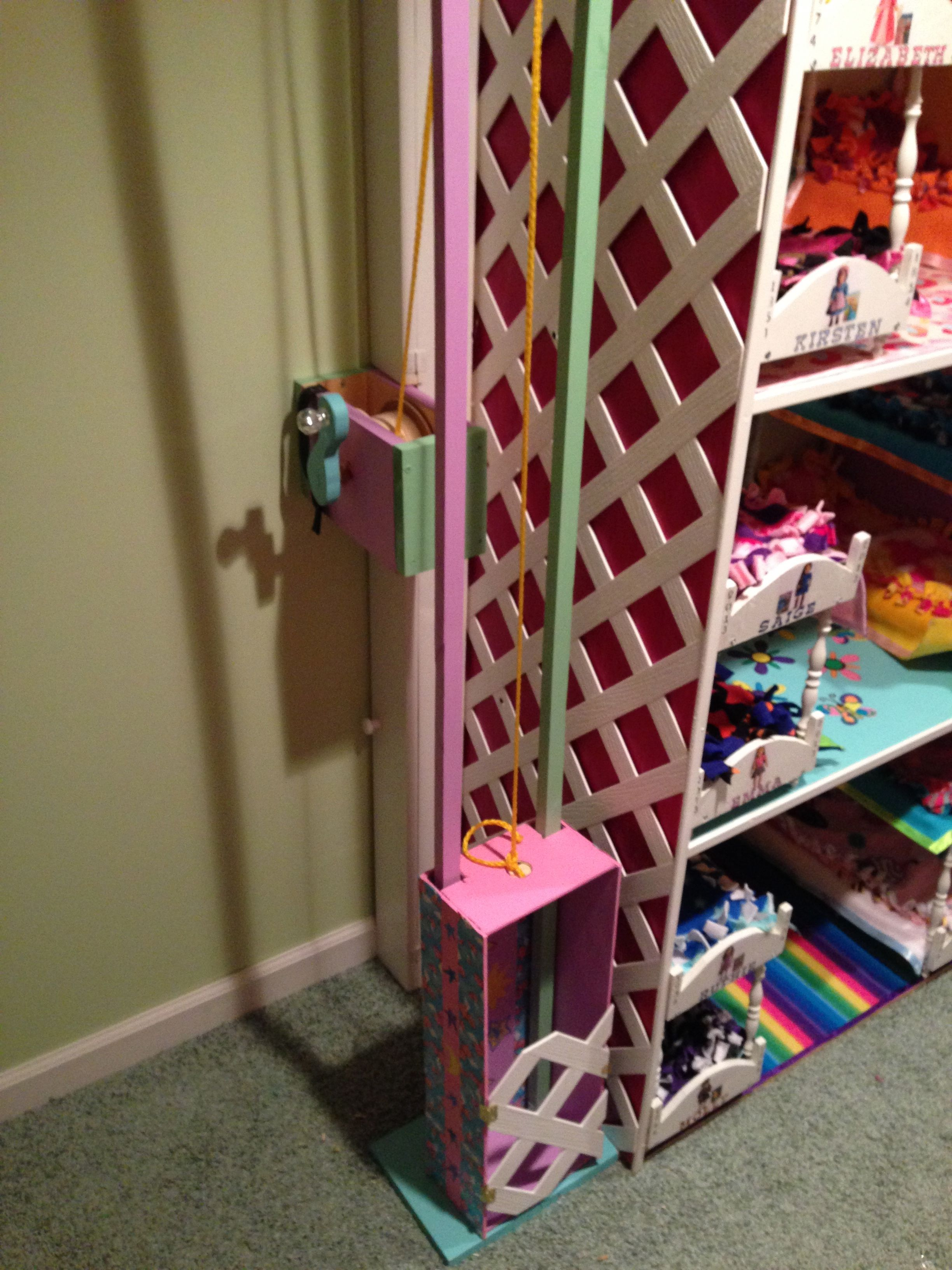 Elevator for the doll house | Paper craft and little worlds | Diy