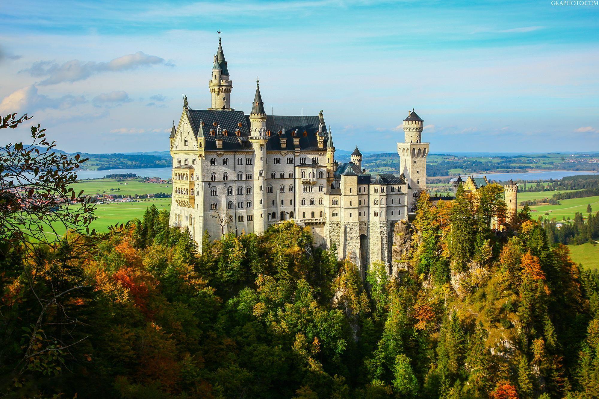 Neuschwanstein Castle Zamok Nojshvanshtajn Bavariya Germaniya