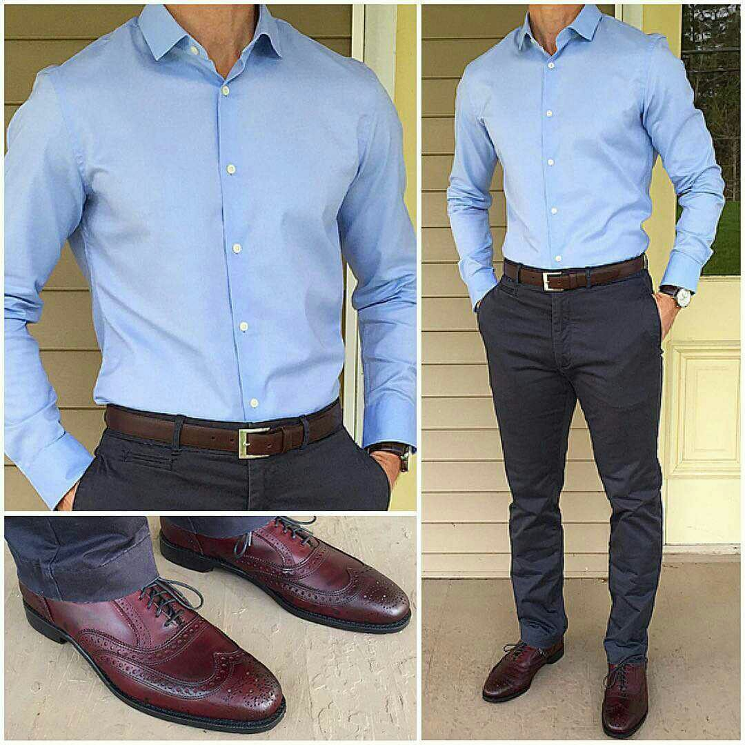 Wedding White Or Blue Shirt: Formal Men Outfit, Light Blue