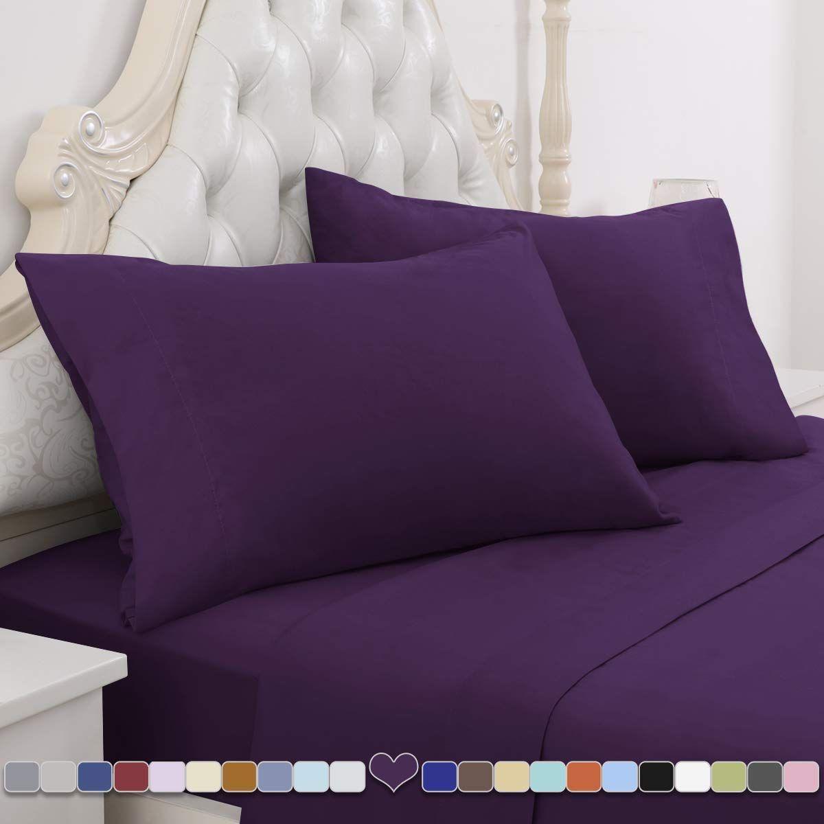 California King Extra Deep Pocket 6 PC Sheet Set 1000 TC Satin Silk Solid Color